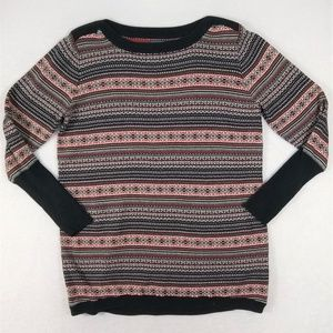 Roots Canada Fair Isle Knit Cotton Sweater